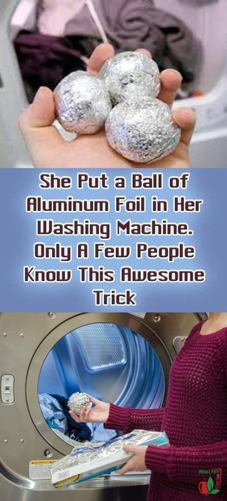 The Reason You Should Put Aluminum Foil Balls In Your Washing Machine